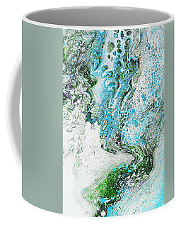 Coffee Mug featuring the painting Blue Fluid Acrylic 4317 by Patricia Cleasby