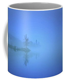 Coffee Mug featuring the photograph Blue Fog At Skaha Lake by Tara Turner