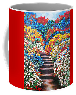 Chloe The   Flying Lamb Productions        Blue Garden Cascade Coffee Mug