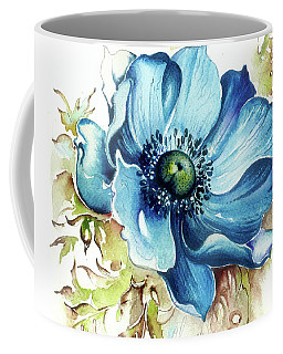 Coffee Mug featuring the painting Blue Gem by Anna Ewa Miarczynska