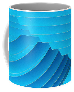 Blue Geometric Abstract 1 Coffee Mug