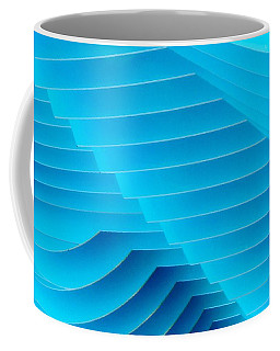 Blue Geometric Abstract 2 Coffee Mug