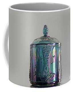 Blue Glass Cookie Jar Coffee Mug by Yvonne Wright
