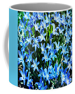 Blue Glory Snow Flowers  Coffee Mug