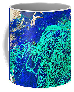 Blue Green Art Coffee Mug by Colette V Hera Guggenheim
