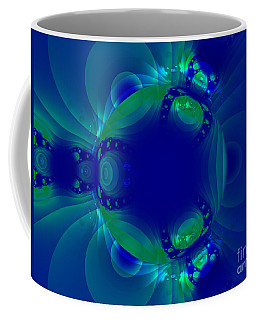 Blue Green Globe Luminant Fractal Coffee Mug