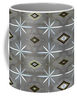 Coffee Mug featuring the digital art Blue Grey Diamond Pattern by Ellen Barron O'Reilly