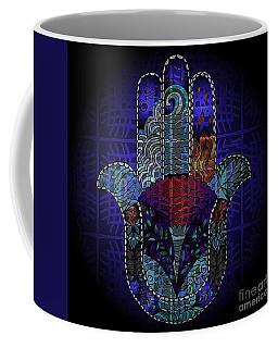 Blue Hamsa Coffee Mug