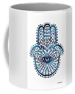 Blue Hamsa Hand Coffee Mug
