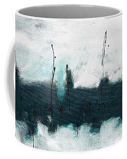 Coffee Mug featuring the painting Blue Harbour by Carmen Guedez
