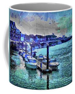 Coffee Mug featuring the digital art Blue Harbour by Leigh Kemp