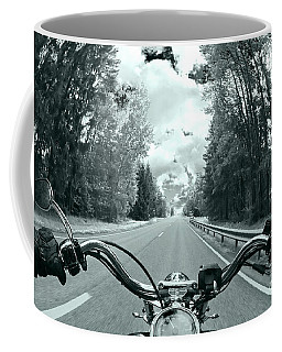 Blue Harley Coffee Mug by Micah May