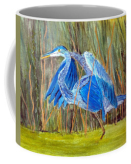 Blue Heron In Viera  Florida Coffee Mug