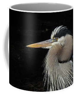 Blue Heron Gaze Coffee Mug