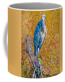 Coffee Mug featuring the photograph Blue Heron In Maryland by Nick Zelinsky