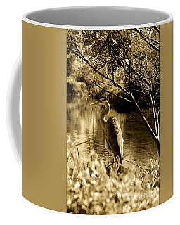 Coffee Mug featuring the photograph Great Blue Heron by Janice Spivey