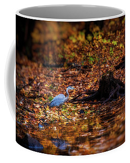 Coffee Mug featuring the photograph Blue Heron by Lilia D