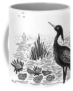 Crowned Night Heron Lily Pond Paradise In Ink D1 Coffee Mug