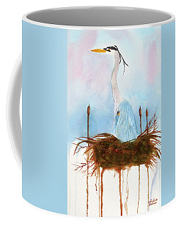 Blue Heron Nesting Coffee Mug