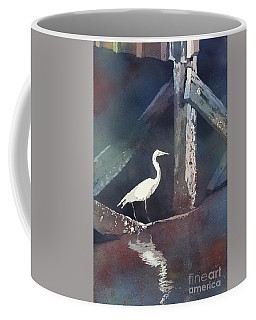 Coffee Mug featuring the painting Blue Heron- Outer Banks by Ryan Fox