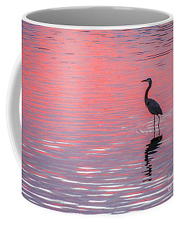 Blue Heron - Pink Water Coffee Mug