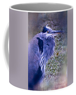 Coffee Mug featuring the photograph Blue Heron Portrait by Ella Kaye Dickey
