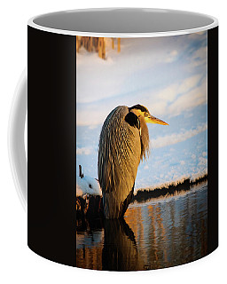 Blue Heron Resting Coffee Mug