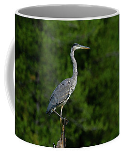 Coffee Mug featuring the photograph Blue Heron by Ronnie and Frances Howard
