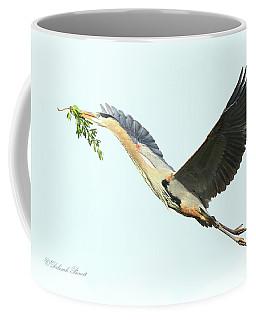 Coffee Mug featuring the photograph Blue Heron Series Twig 2017 by Deborah Benoit