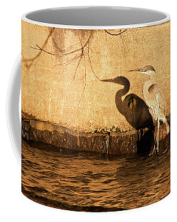 Blue Heron Shadow Coffee Mug
