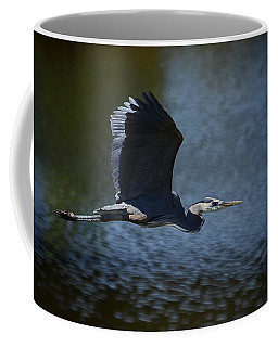 Blue Heron Skies  Coffee Mug