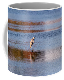 Blue Heron Standing In A Pond At Sunset Coffee Mug