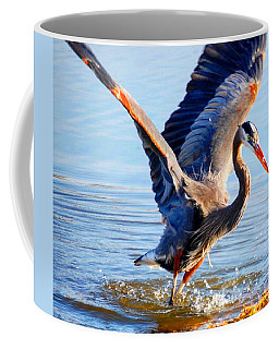 Coffee Mug featuring the photograph Blue Heron by Sumoflam Photography