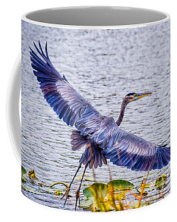 Blue Heron  Take Off  Coffee Mug