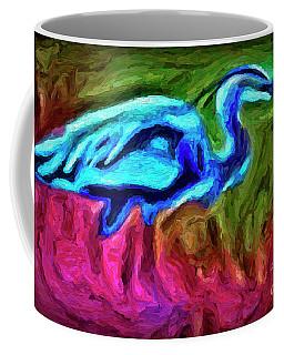 Coffee Mug featuring the photograph Blue Heron by Walt Foegelle