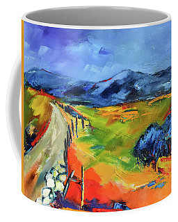 Coffee Mug featuring the painting Blue Hills By Elise Palmigiani by Elise Palmigiani