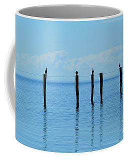 Coffee Mug featuring the photograph Blue Horizon by Stephen Mitchell