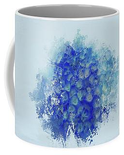 Blue Hortensia Coffee Mug by Eva Lechner
