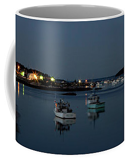 Blue Hour Boats In Maine Coffee Mug