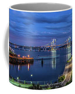 Blue Hour Over The Hudson Coffee Mug