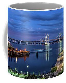 Blue Hour Over The Hudson Coffee Mug by Jeffrey Friedkin