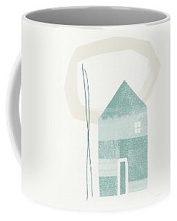 Blue House In Moonlight- Art By Linda Woods Coffee Mug