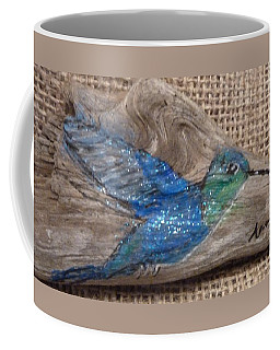 Blue Hummingbird Coffee Mug by Ann Michelle Swadener