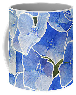 Blue Hydrangea Stained Glass Look Coffee Mug