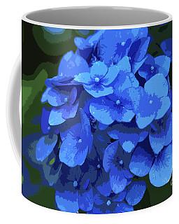 Blue Hydrangea Stylized Coffee Mug