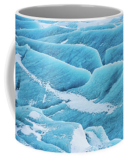 Blue Ice Svinafellsjokull Glacier Iceland Coffee Mug by Matthias Hauser