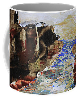 Blue Inlet Abstract Coffee Mug