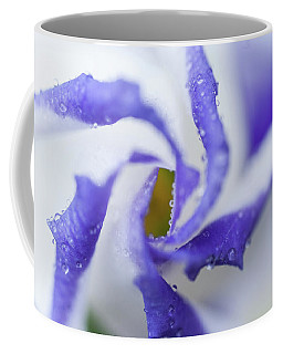 Coffee Mug featuring the photograph Blue Inspiration. Lisianthus Flower Macro by Jenny Rainbow