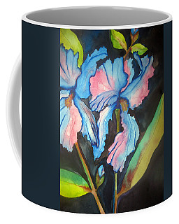 Blue Iris Coffee Mug by Lil Taylor