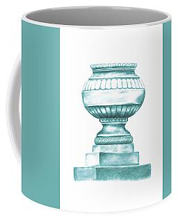 Coffee Mug featuring the digital art Blue Jardiniere  by Elizabeth Lock